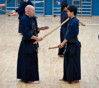 Ojika NI Dojo Leader and founder John Kelso (Left)